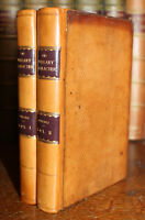 1822 The Literary Character I D'Israeli 2 Vol Third Edition Full Leather Binding