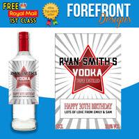 Personalised Vodka bottle label, Perfect Birthday/Wedding/Graduation/XMAS Gift