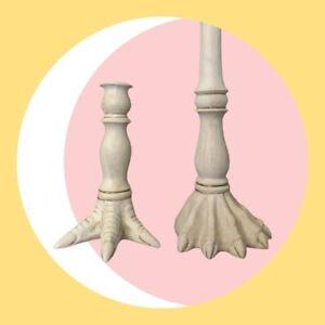 Unique Set Of Animal Feet Candlesticks! Ceramic. Weird. Wonderful.