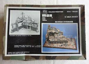 WW2 Verlinden MDA Ruined Interior Scale 1:35 Diorama