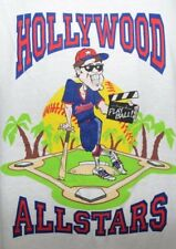 Vtg 80s 90s Adidas White Hollywood All Stars Baseball Graphic T Shirt Mens Xl