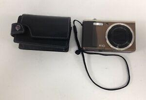 Ricoh R10 Digital Camera Untested In Original Case Brown #672