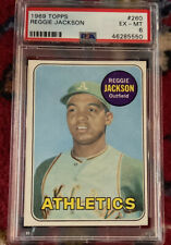 1969 Topps #260 Reggie Jackson ATHLETICS Rookie Card RC PSA 6