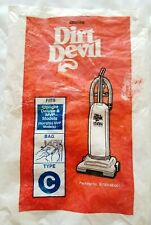 Dirt Devil Vacuum Cleaner Bags Type C for Upright Deluxe Mvp 6 Bags Opened Pack