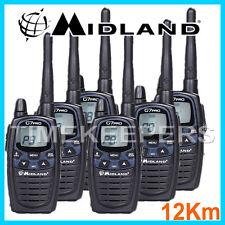 12Km Midland G7 Pro Dual Band Walkie Talkie Two Way PMR Radio Licence Free Six