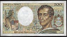 200 Francs ; MONTESQUIEU , 1985 , Alpha P.030 ; Fay #70/5 / L175c