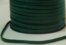 Flachkordel 5mm grün Korsettschnur Schnüre dunkelgrün tannengrün