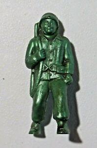 """Vintage Premier Hard Plastic Toy Soldier US World War II Era Soldier 3"""" 8301"""