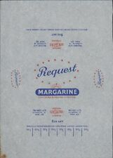 "'Request' ""Contains Sunshine Vitamins""   Vintage Margarine Wrapper. HL4.520"