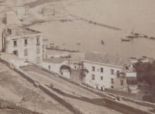 1880s CABINET CARD PHOTO NAPOLI ITALY RIVIERA CHIAIA TAKEN FROM TOMB DI VIRGILIO