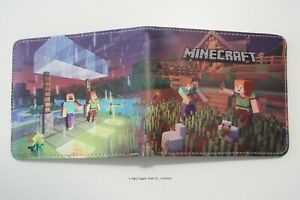 Minecraft Wallet Game Bifold Men Coins Cards Notes