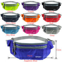 Bum Waist Belt Bag Travel Sports Holiday Gym Wallet Pack Pouch Festival Fanny UK
