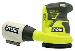 Ryobi P411 One+ 18 Volt 5 Inch Cordless Battery Operated Random Orbit Power S...