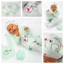Babyset Geschenkset 5tlg Erstausstattung Mädchen Grün 56 62 Öko-Tex Baumwolle