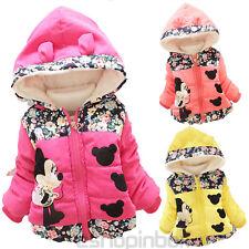 Kinder Mädchen Micky Maus Hooded Warm Fleecejacke Mantel Winterjacke Schneejacke