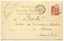 CARTE ENTIER POSTALE  112 CP1 TYPE MOUCHON SAINT GERAN LE PUY 1903