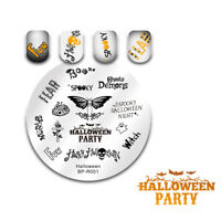 BORN PRETTY Halloween Party Nail Stamping Plate Words Image  Template