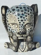 DAY OFTHE DEAD   JAGUAR MASK HAND CARVED WOOD GUATEMALAN FOLK ART only 3left