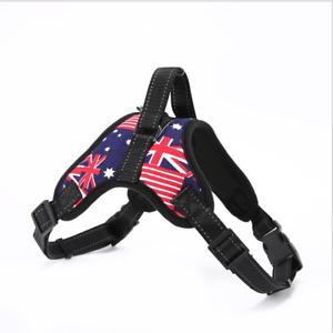 NoPull Dog Pet Harness Adjustable Control Vest Outdoor Walking Breathable Flag S
