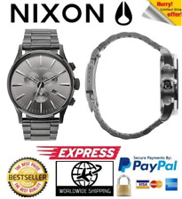 Nixon Sentry SS Chrono All Gunmetal Mens Watch A386-632 A386632 Stainless Steel