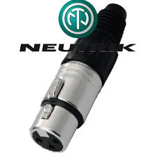 Fiche XLR 3 femelle Neutrik Nc3fxx