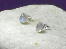 MOONSTONE   Sterling  Silver  925 Gemstone  STUD Earring - 5 x 7 mm