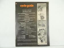 Vintage Aug 1976 CYCLE GUIDE Magazine Yamaha XS750D Honda RTL300 L5214