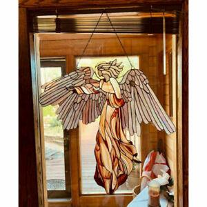 Hanging Angel Wings Pendant Ornament Wall Art Garden Yard Home Decorative