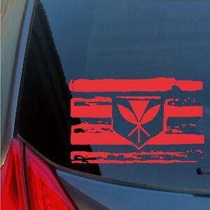 Kanaka Maoli distressed flag vinyl sticker decal Hawaiian sovereignty 808 Oahu