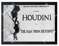 Historic Houdini in the movie The Man From Beyond Advertising Postcard