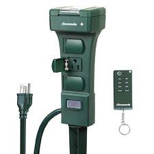 DEWENWILS Outdoor Power Strip Stake Timer Waterproof Light Timer Sensor HOYS16A