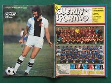 GUERIN SPORTIVO n.33-34/1981 con 2 POSTER NAZIONALE FEMMINILE + CALCIOMONDO n.16