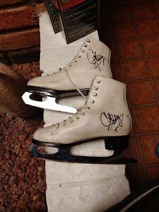 Autographed Cathy Rigby/John Wilson Ice Skates Sheffield England