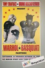 Andy Warhol Jean-Michel Basquiat 1985 Boxing poster print 11x17