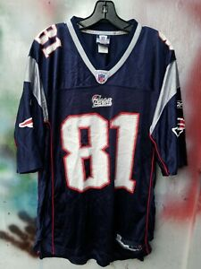 Authentic NEW ENGLAND PATRIOTS  Randy MOSS JERSEY BY REEBOK SIZE large