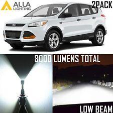 Alla Lighting Low Beam Headlight H11 White LED Bulbs for 13~17 Ford Escape Edge
