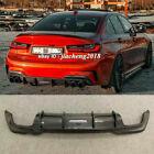 Fits For 19-21 BMW G20 M340i M Performance Rear Bumper Lip Diffuser Carbon Fiber