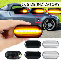 2x Dynamic LED Side Indicator Light Blud For Nissan Navara D40 350Z Qashqai  HL