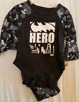 BOYS INFANT DC COMICS BATMAN HERO BLACK SIZE 0-3 MONTHS 2 PACK BODYSUITS NWT