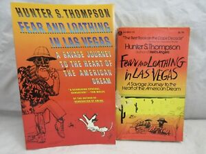 HUNTER S THOMPSON FEAR AND LOATHING IN LAS VEGAS 1971 POPULAR & 1989 VINTAGE