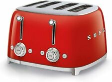 Smeg 770926335 Toaster, 2000 W, Red Slice Extra Wide Toast Tool Kit, (1 13/32in