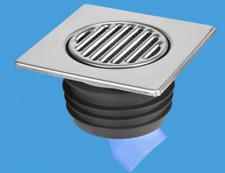 Wet Room Pavimento Bagnato doccia Gully tutto in una trappola e rifiuti senz'acqua 110mm 150mm