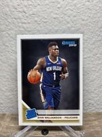2019-20 Donruss Zion Williamson Rated Rookie Pelicans