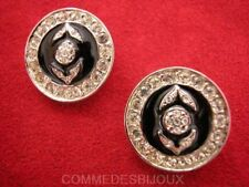 "B.O. ""Cercle Direction Flèche"" cristal Blanc - Bijoux Vintage Butler & Wilson"