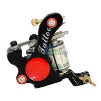 One 10 Wrap Coils Tattoo Machine Gun Spring Shader Ink Cast Kit Set Power Supply