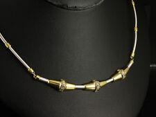 Sehr schönes Brillant Collier ca. 0,60ct 16,4g 750- Weißgold & Gelbgold
