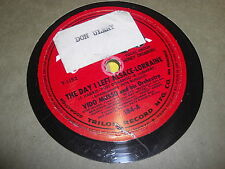 VIDO MUSSO TRILON 78 RPM RECORD 184 CHECKERBOARD / DAY I LEFT ALSACE LORRAINE