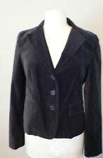 Womens Ladies Velvet Jacket Designer DKNY Short Dark Olive Cotton Spandex NWT