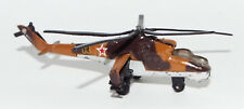 Die Cast Russian MI-24 Hind Attack/Transport Helicopter in Brown Camouflage