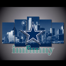 5Pcs DALLAS COWBOYS City Canvas Picture Print Painting Wall Art Fan Home Decor